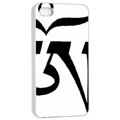 Tibetan Om Symbol (black) Apple Iphone 4/4s Seamless Case (white) by abbeyz71