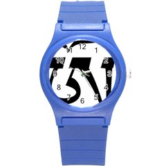 Tibetan Om Symbol (black) Round Plastic Sport Watch (s) by abbeyz71