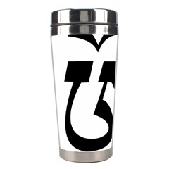 Tibetan Om Symbol (black) Stainless Steel Travel Tumblers by abbeyz71