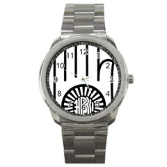 Janism Ahimsa Symbol  Sport Metal Watch by abbeyz71