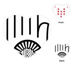 Jainism Ahisma Symbol  Playing Cards (heart)  by abbeyz71