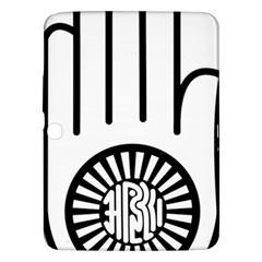 Jainism Ahisma Symbol  Samsung Galaxy Tab 3 (10 1 ) P5200 Hardshell Case  by abbeyz71