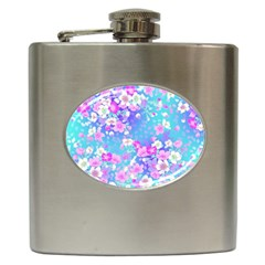 Flowers Cute Pattern Hip Flask (6 Oz)