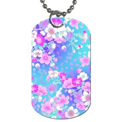 Flowers Cute Pattern Dog Tag (two Sides)