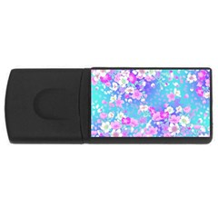 Flowers Cute Pattern Usb Flash Drive Rectangular (4 Gb)
