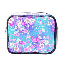 Flowers Cute Pattern Mini Toiletries Bags by Nexatart