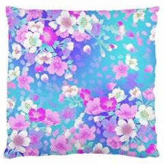 Flowers Cute Pattern Large Cushion Case (two Sides)