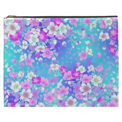Flowers Cute Pattern Cosmetic Bag (xxxl)  by Nexatart