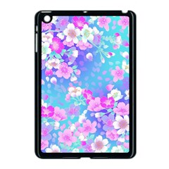 Flowers Cute Pattern Apple Ipad Mini Case (black) by Nexatart