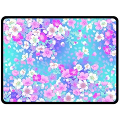 Flowers Cute Pattern Double Sided Fleece Blanket (large)