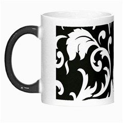 Black And White Floral Patterns Morph Mugs by Nexatart