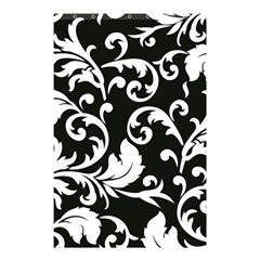 Black And White Floral Patterns Shower Curtain 48  X 72  (small)  by Nexatart