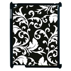 Black And White Floral Patterns Apple Ipad 2 Case (black)