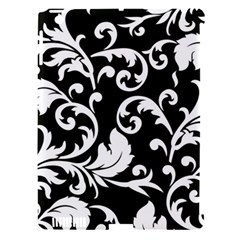 Black And White Floral Patterns Apple Ipad 3/4 Hardshell Case (compatible With Smart Cover)