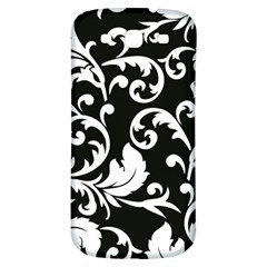 Black And White Floral Patterns Samsung Galaxy S3 S Iii Classic Hardshell Back Case by Nexatart
