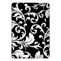 Black And White Floral Patterns Amazon Kindle Fire Hd (2013) Hardshell Case by Nexatart