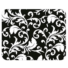 Black And White Floral Patterns Double Sided Flano Blanket (medium)  by Nexatart