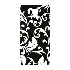 Black And White Floral Patterns Samsung Galaxy Alpha Hardshell Back Case