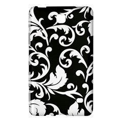 Black And White Floral Patterns Samsung Galaxy Tab 4 (8 ) Hardshell Case