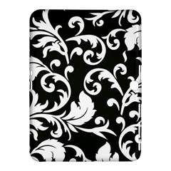 Black And White Floral Patterns Samsung Galaxy Tab 4 (10 1 ) Hardshell Case