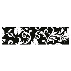 Black And White Floral Patterns Satin Scarf (oblong)