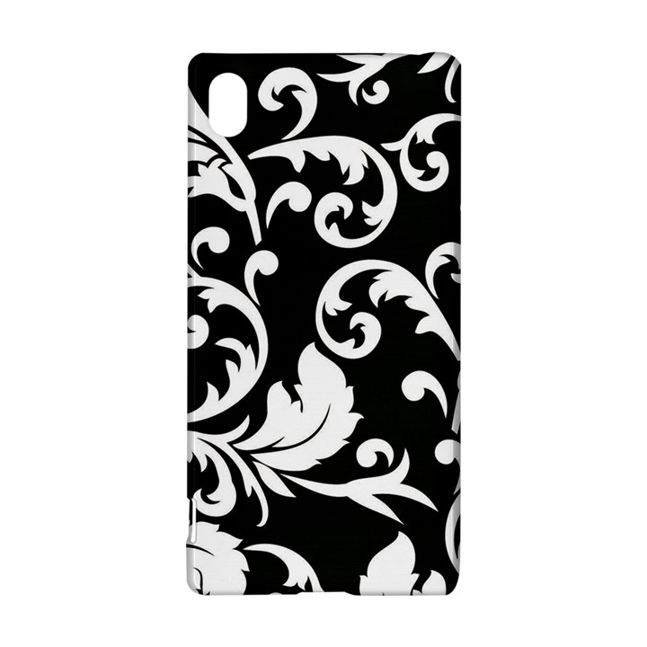 Black And White Floral Patterns Sony Xperia Z3+