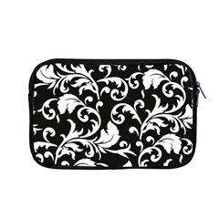 Black And White Floral Patterns Apple Macbook Pro 13  Zipper Case by Nexatart
