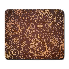 Gold And Brown Background Patterns Large Mousepads