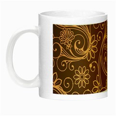 Gold And Brown Background Patterns Night Luminous Mugs by Nexatart