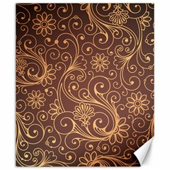 Gold And Brown Background Patterns Canvas 20  X 24   by Nexatart