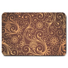 Gold And Brown Background Patterns Large Doormat