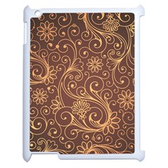 Gold And Brown Background Patterns Apple Ipad 2 Case (white) by Nexatart
