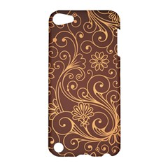 Gold And Brown Background Patterns Apple Ipod Touch 5 Hardshell Case