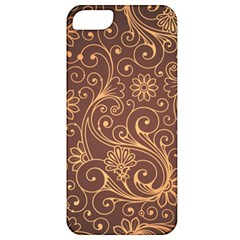 Gold And Brown Background Patterns Apple Iphone 5 Classic Hardshell Case