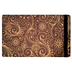 Gold And Brown Background Patterns Apple Ipad 3/4 Flip Case by Nexatart