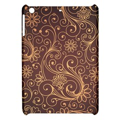 Gold And Brown Background Patterns Apple Ipad Mini Hardshell Case by Nexatart