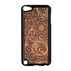 Gold And Brown Background Patterns Apple Ipod Touch 5 Case (black)