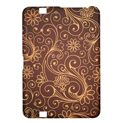 Gold And Brown Background Patterns Kindle Fire Hd 8 9  by Nexatart