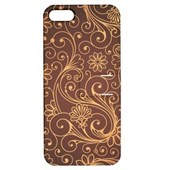 Gold And Brown Background Patterns Apple Iphone 5 Hardshell Case With Stand