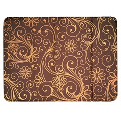 Gold And Brown Background Patterns Samsung Galaxy Tab 7  P1000 Flip Case