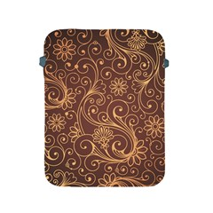 Gold And Brown Background Patterns Apple Ipad 2/3/4 Protective Soft Cases