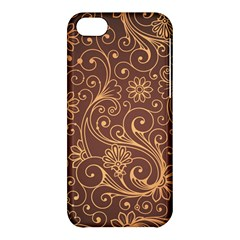Gold And Brown Background Patterns Apple Iphone 5c Hardshell Case by Nexatart