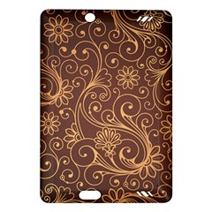 Gold And Brown Background Patterns Amazon Kindle Fire Hd (2013) Hardshell Case