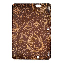 Gold And Brown Background Patterns Kindle Fire Hdx 8 9  Hardshell Case by Nexatart