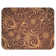 Gold And Brown Background Patterns Double Sided Flano Blanket (medium)  by Nexatart