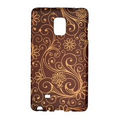 Gold And Brown Background Patterns Galaxy Note Edge by Nexatart