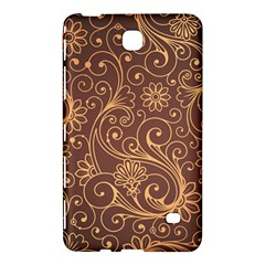 Gold And Brown Background Patterns Samsung Galaxy Tab 4 (7 ) Hardshell Case