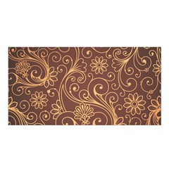 Gold And Brown Background Patterns Satin Shawl by Nexatart