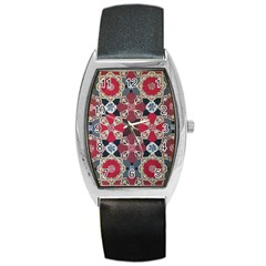 Beautiful Art Pattern Barrel Style Metal Watch