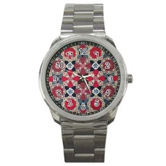 Beautiful Art Pattern Sport Metal Watch
